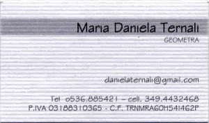 Biglietto visita Ternali